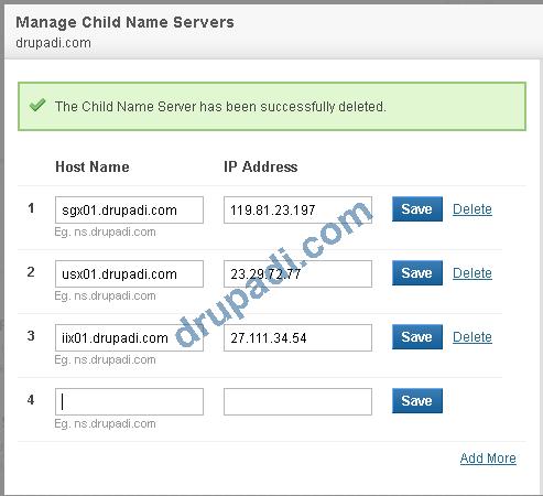 Child Name Servers
